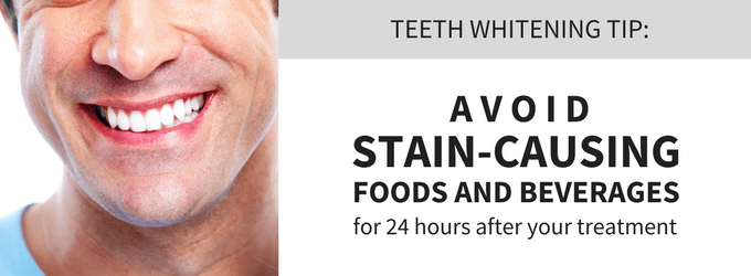 Professional teeth whitening tip: Avoid stain-causing foods for 24 hours